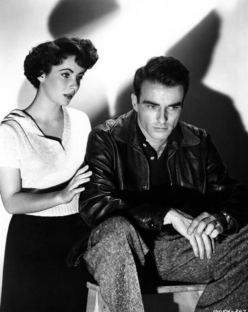 "Elizabeth Taylor and Montgomery Clift, promo shot for ""A Place in the Sun"""