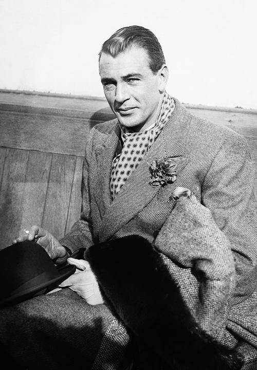Gary Cooper, aboard a trans-Atlantic ship,1932