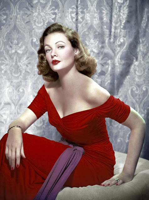 Gene Tierney, in living sultrycolour