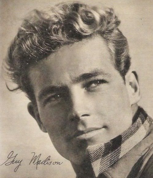 Guy Madison in plaid