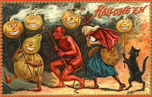 Bizarre old Halloweencard