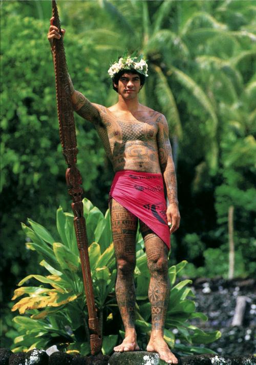 Traditional tattoo body art,Tahiti