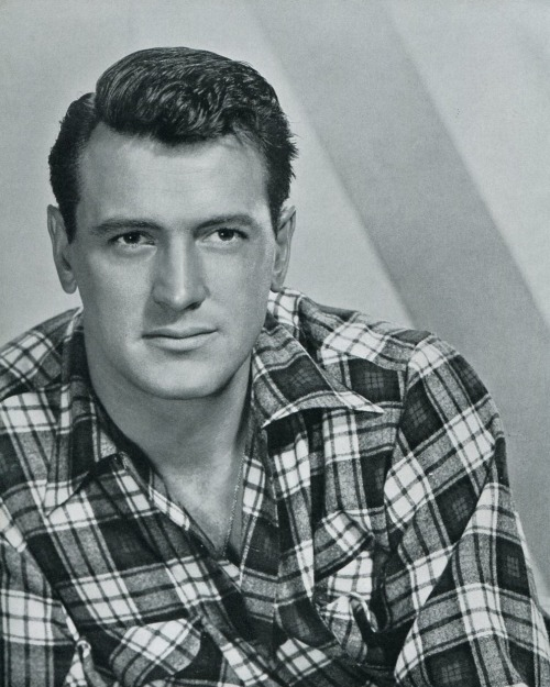 Rock Hudson in plaid