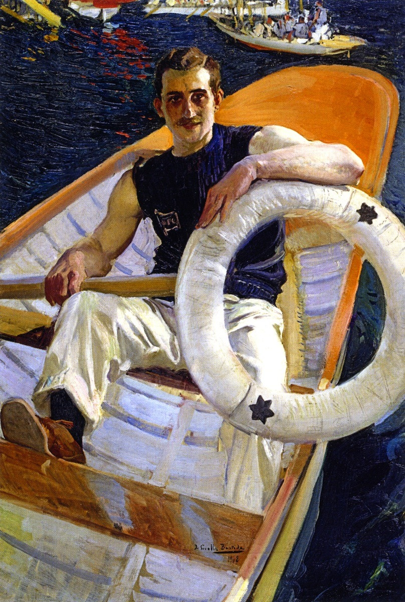 Painting of a rower by Joaquin Sorolla,1908