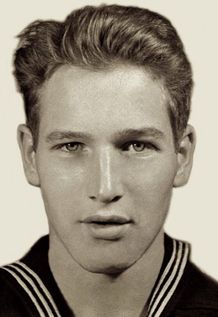 Paul Newman in the US Navy, 1940s