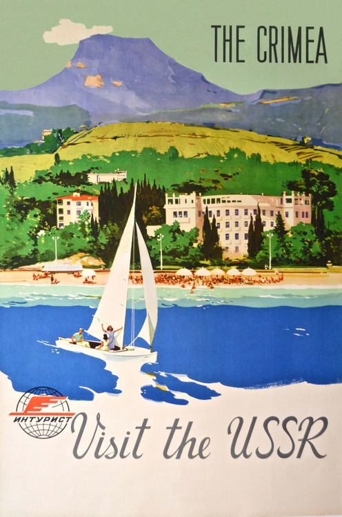 The Crimea travel poster produced by the USSR's state tourist