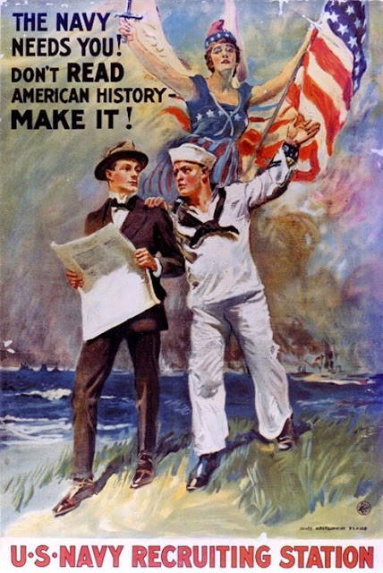 US Navy recruitment poster, WWIera
