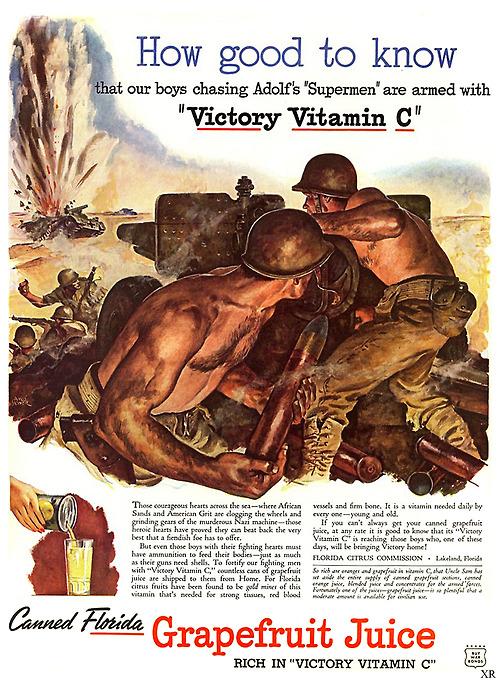 WWII, USA, Vitamin C forVictory!