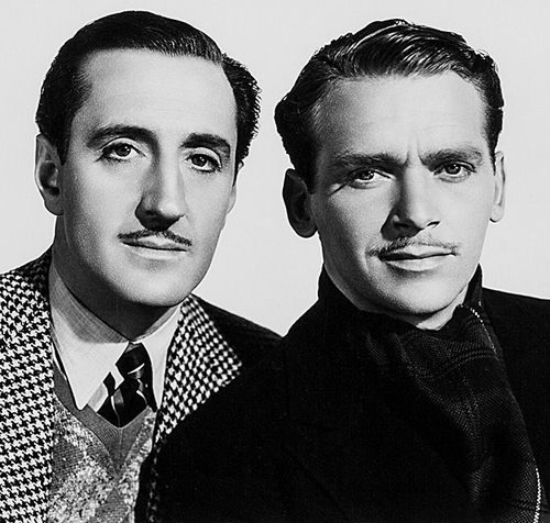 Basil Rathbone and Douglas FairbanksJr.
