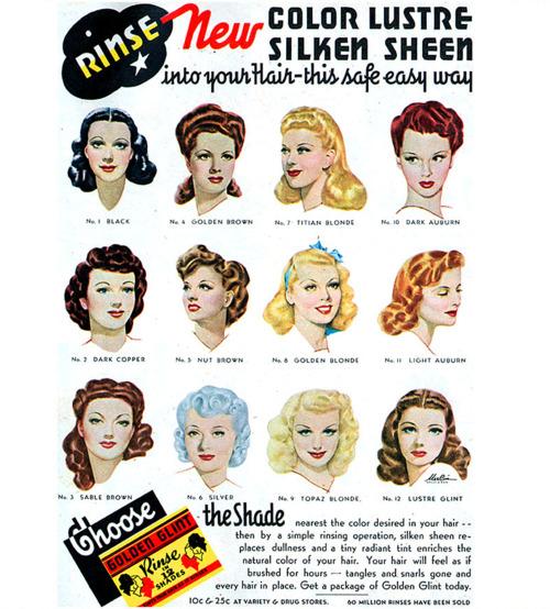Hair dye ad, circa1940