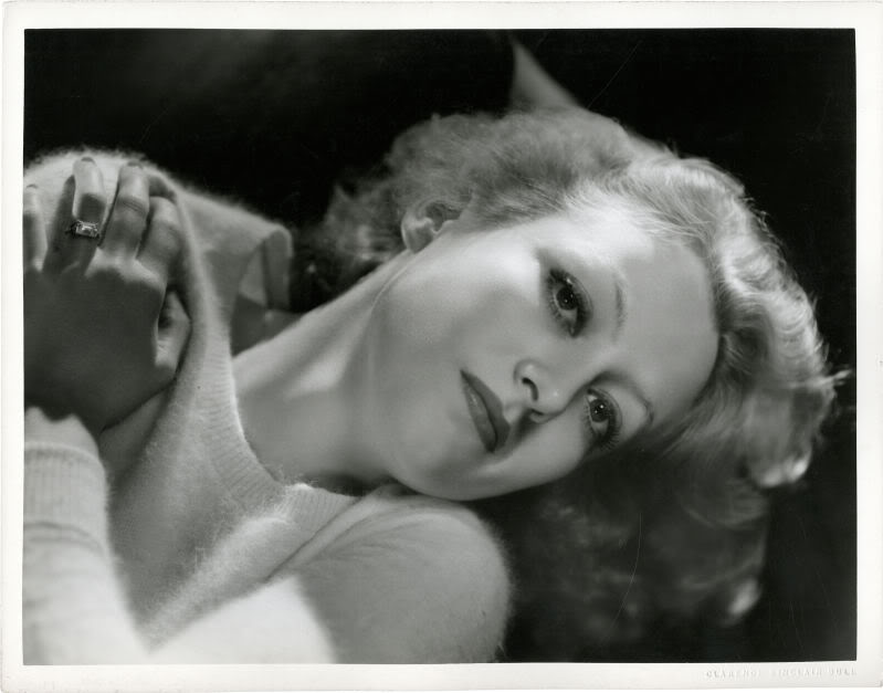 Joan Crawford, circa 1930, when she was still a blonde (before she became a brunette)