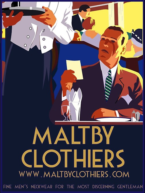 Nice graphic design for MaltbyClothiers