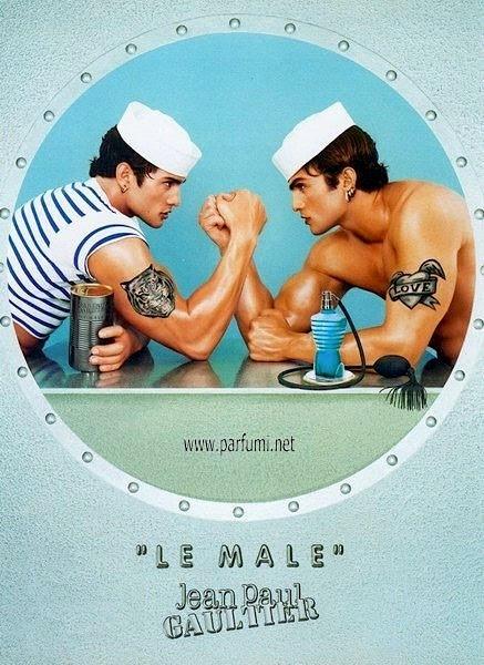 Ad for men'scologne