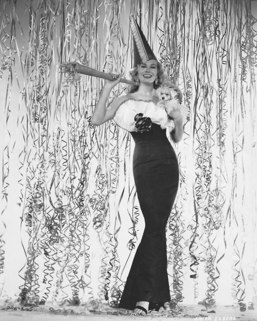 Happy New Year from Anita Ekberg
