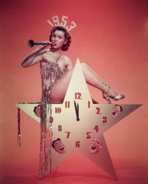 Happy New Year 1953 from Debbie Reynolds