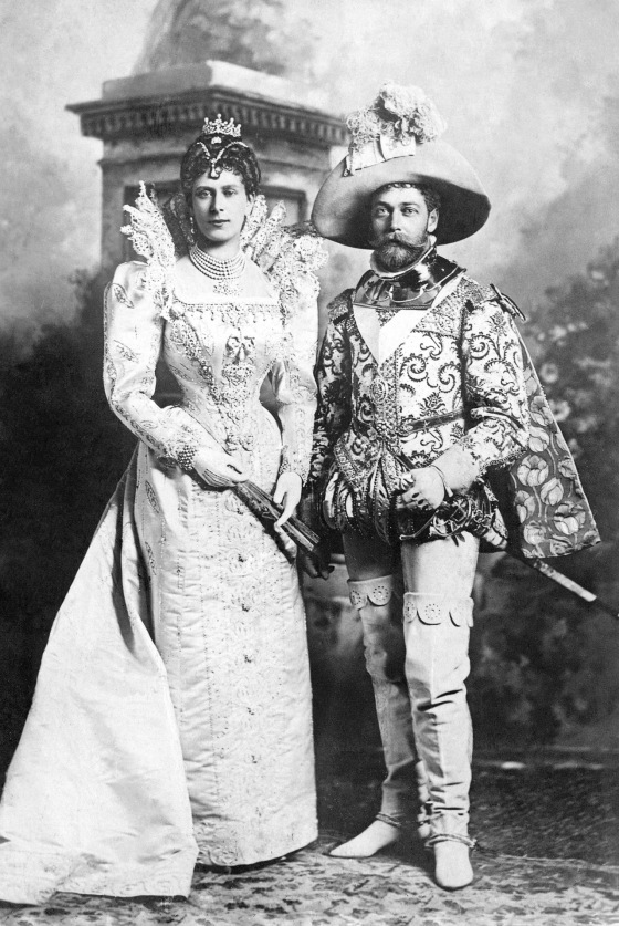 george and mary 1897 costume ball