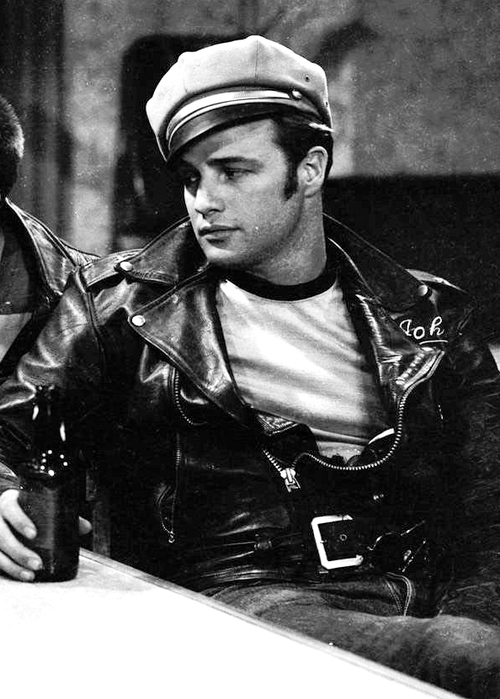 "Marlon Brando in ""The Wild One"" 