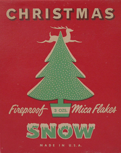 Fireproof snow forChristmas