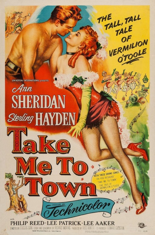 """Ann Sheridan and Sterling Hayden in """"Take Me ToTown"""""""