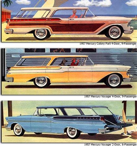 1957 Mercury StationWagons