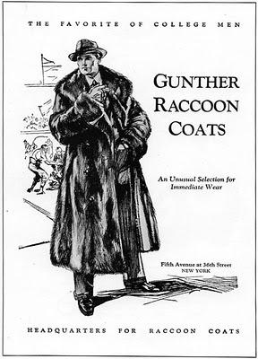 The favorite of college men… raccooncoats