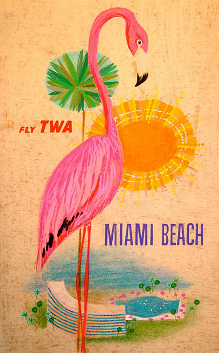 TWA to Miami Beach, circa 1960