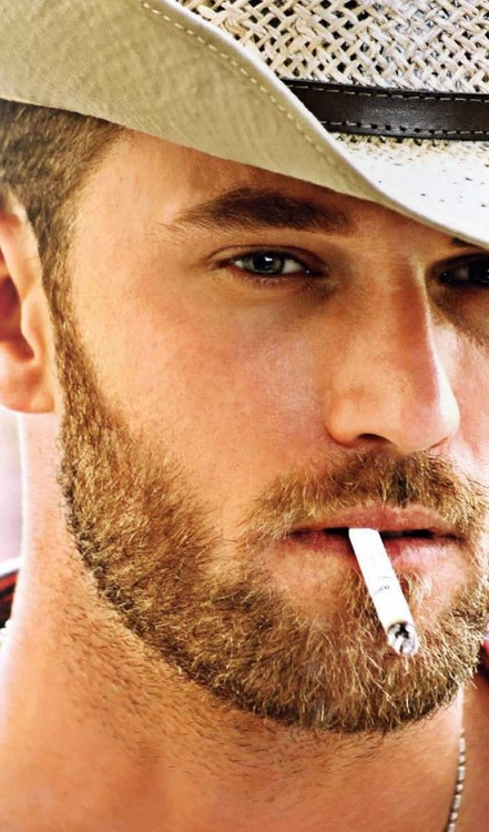 Beard and cig