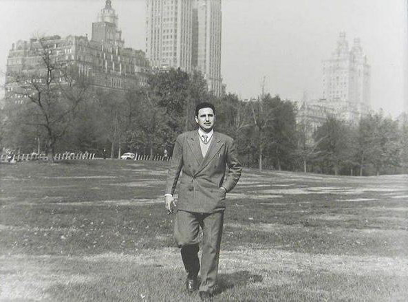 Fidel Castro in Central Park, NYC, 1955