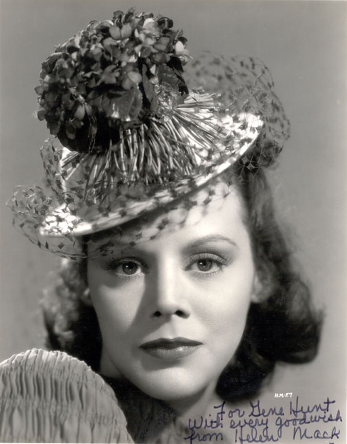 Helen Mack (but it's all about thehat)