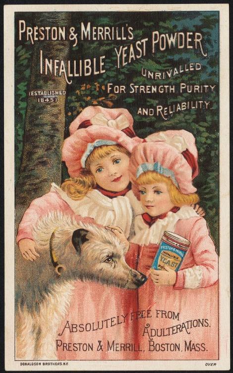 Yeast powder ad,1800s