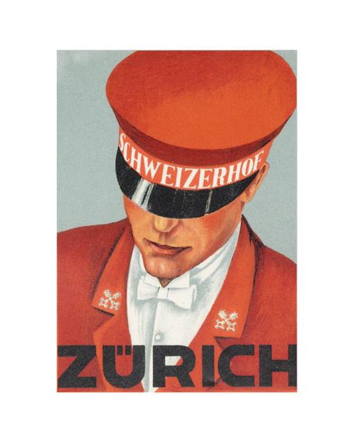 1925 Zurich hotel luggagesticker
