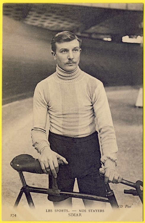 Vintage French Cyclist
