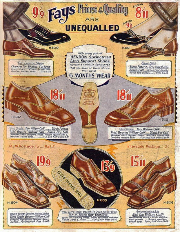 Men's shoes, UK,1920s