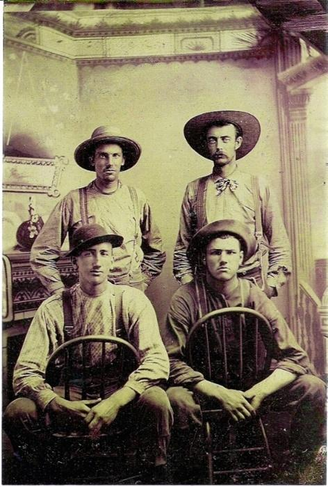 Real cowboys, somewhere in the Wild West,1800s