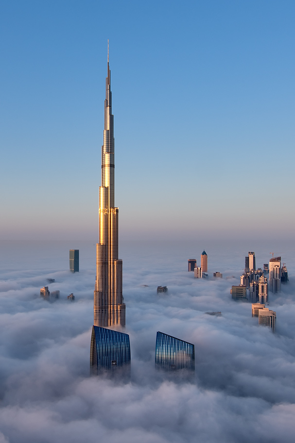 Dubai above the clouds