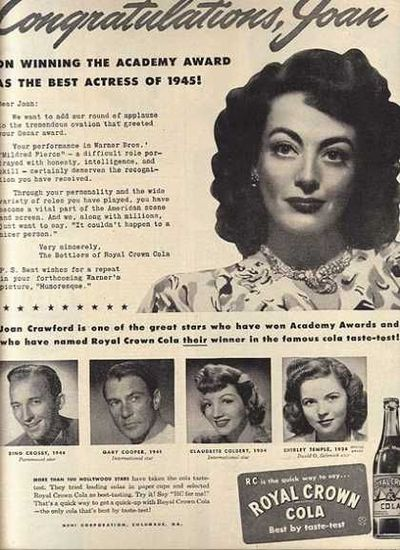 Joan Crawford in an RC Cola Ad,1946