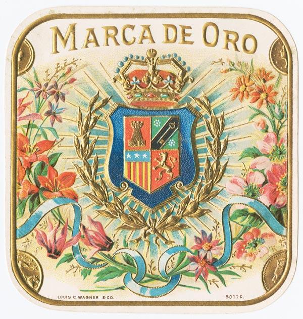 Marca D'Oro, Old Cuban Cigar BoxLabel