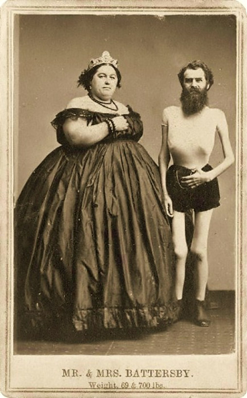 Mr, and Mrs Battersby, weight 69 and 700 pounds
