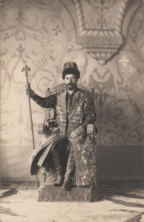 Tsar Nicholas II on athrone