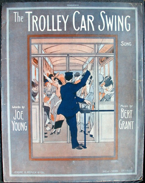 old sheet music trolley car song