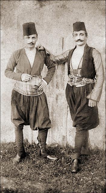 Turkish men from the Ottoman Empire era(1900)