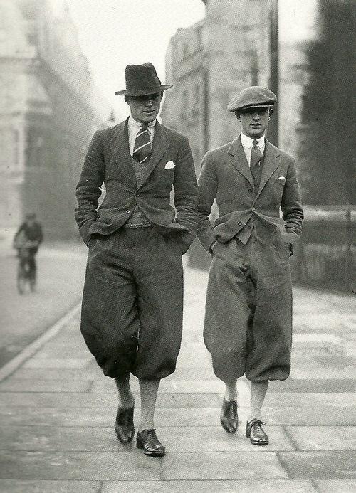 Men's fashions, circa 1920(?)