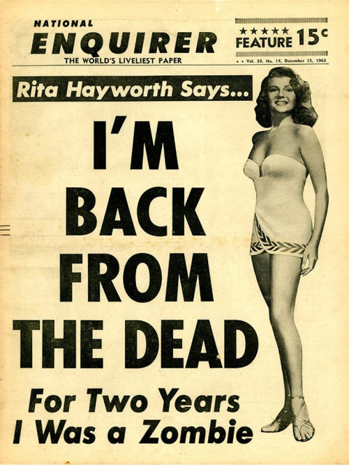 Rita Hayworth is back from the dead!