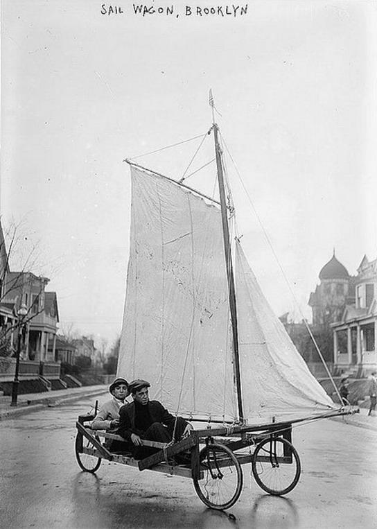 Sail Wagon, Brooklyn NY, circa1900