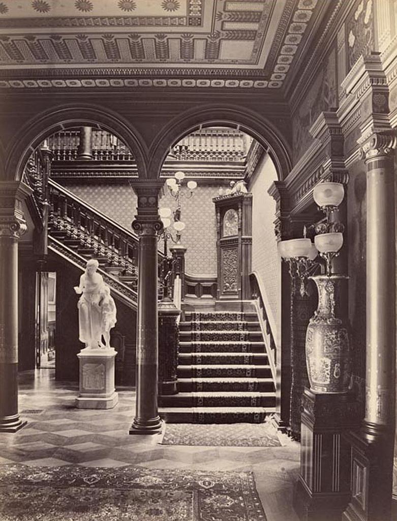 Inside the D.O. Mills mansion, San Francisco,1880s