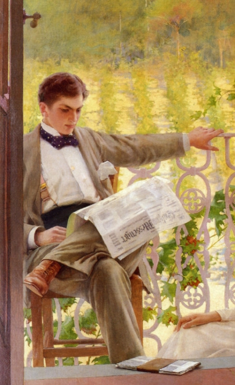 An Afternoon on the Porch (c.1895), by Vittorio Matteo Corcos