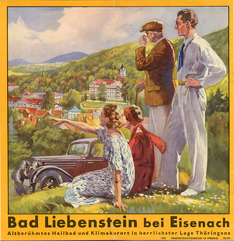 Bad Liebenstein, 1937 – Have a pleasant holiday in the mountains of Nazi Germany