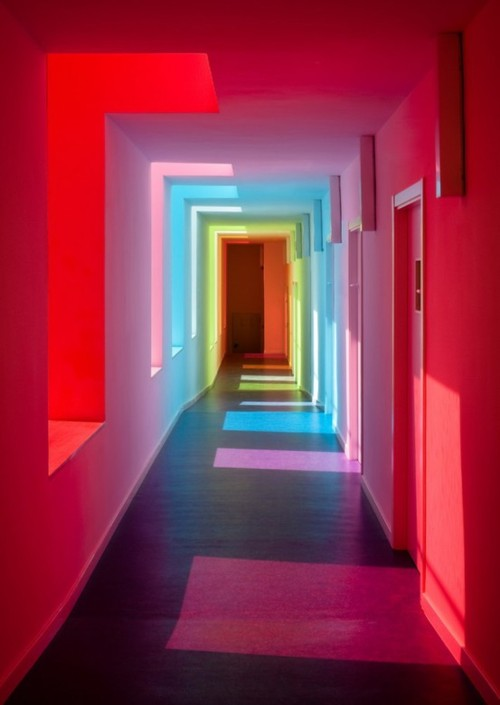 Colourful hallway