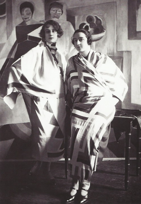 Avant-Garde/Art Deco clothing by the French artist Delauney, circa 1920