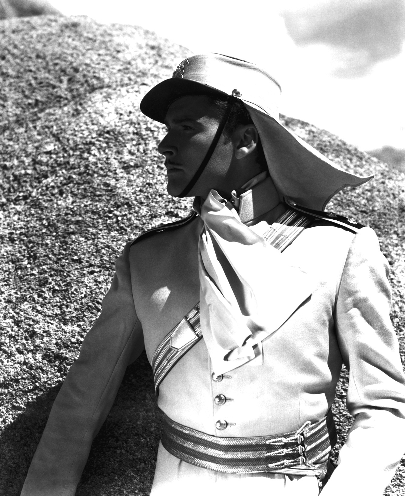 "Errol Flynn in ""Charge of the Light Brigade"", I think"